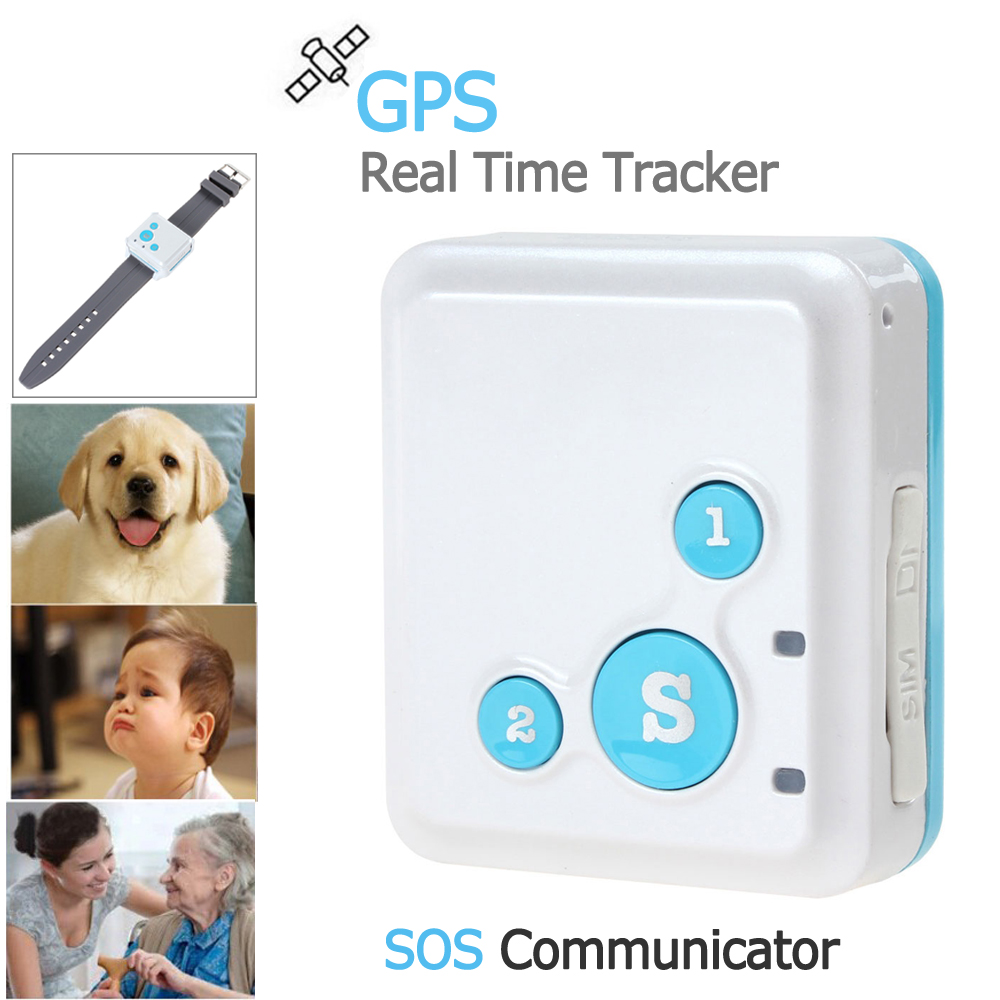 REACHFAR Portable V16 GPS Real-Time Tracker & SOS Communicator with Watch Strap & Necklace Style Lanyard  mini portable gps locator real time tracker sos communicator with lanyard for car person