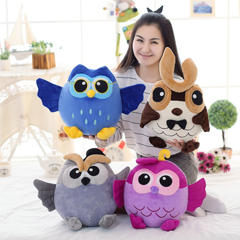 1pc 25cm Popular Night fly Owl Plush Toy Baby Toys Stuffed Animal Doll 4 Colors Soft Baby Birthday Gifts Kids Toy baby animal clip plush doll stuffed toy kids soft animal pattern plush toy infant stroller bed crib hanging bell toys