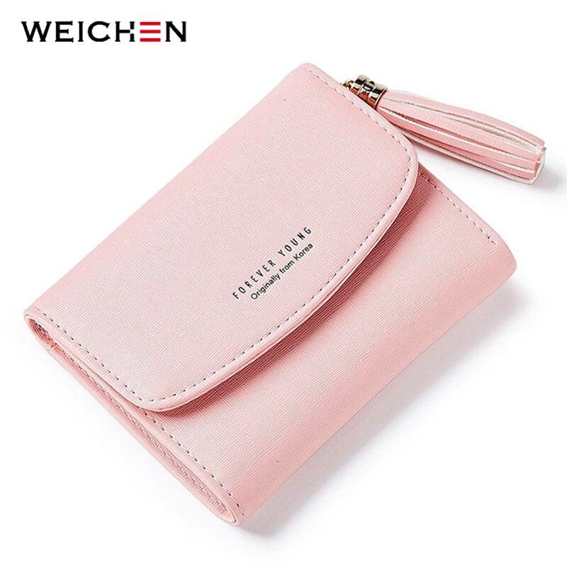 WEICHEN Tassel Women's Wallet With Card Holder Coin Purse High Quality Short Wallets Female Brand Designer Ladies Purse Carteira
