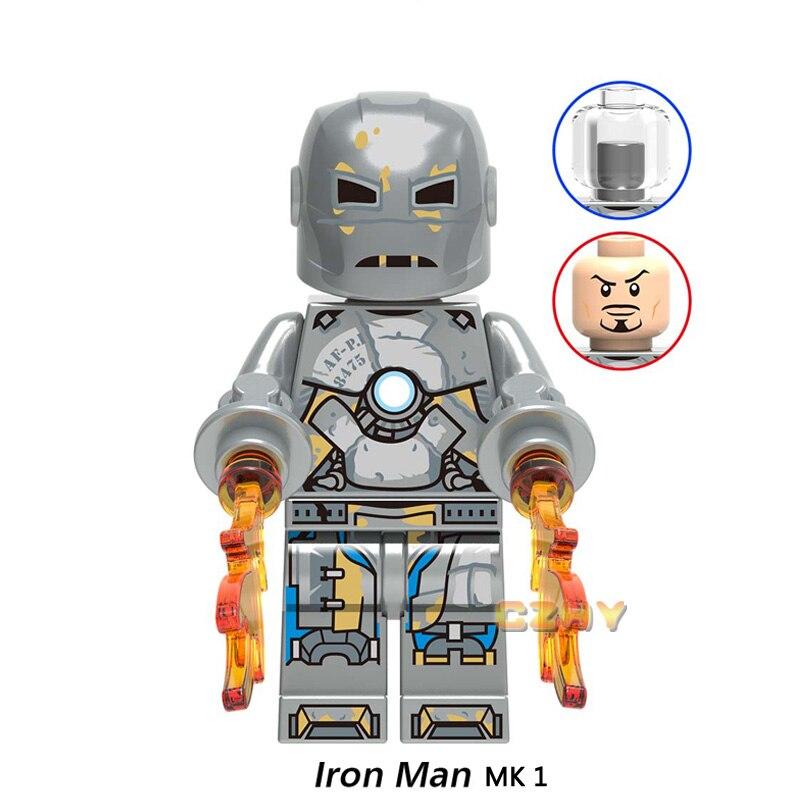 Avengers Marvel Iron Man Thanos 6pcs Stones Infinity Gauntlet Legoing Block Toy