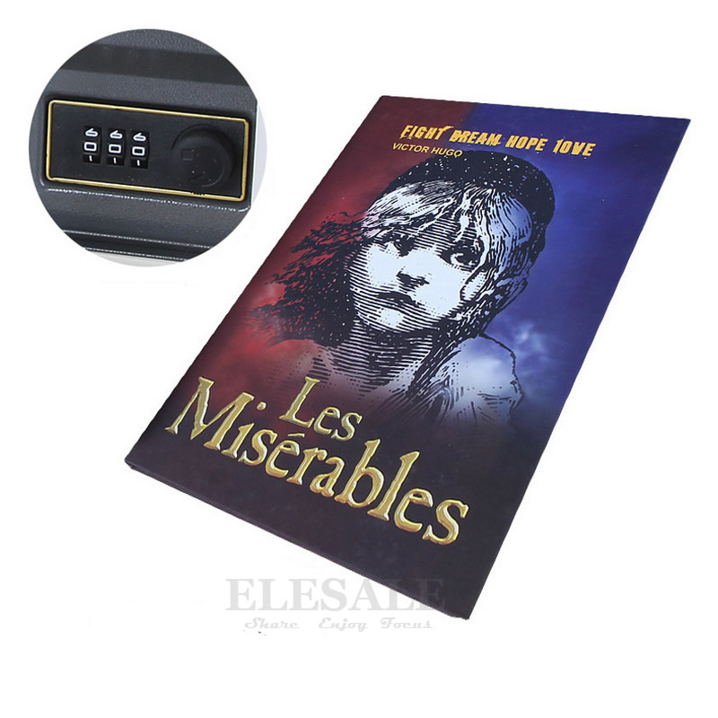Alta qualidade escondido cofre caixa de simulação livro estilo combinação senha bloqueio casa viagem dinheiro do carro jóias telefone cofres