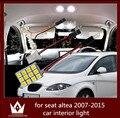 Guang Dian luz do carro luz interior dome luz vaidade acessórios tronco carga kit lâmpada T10 festão para seat altea 2007-2015
