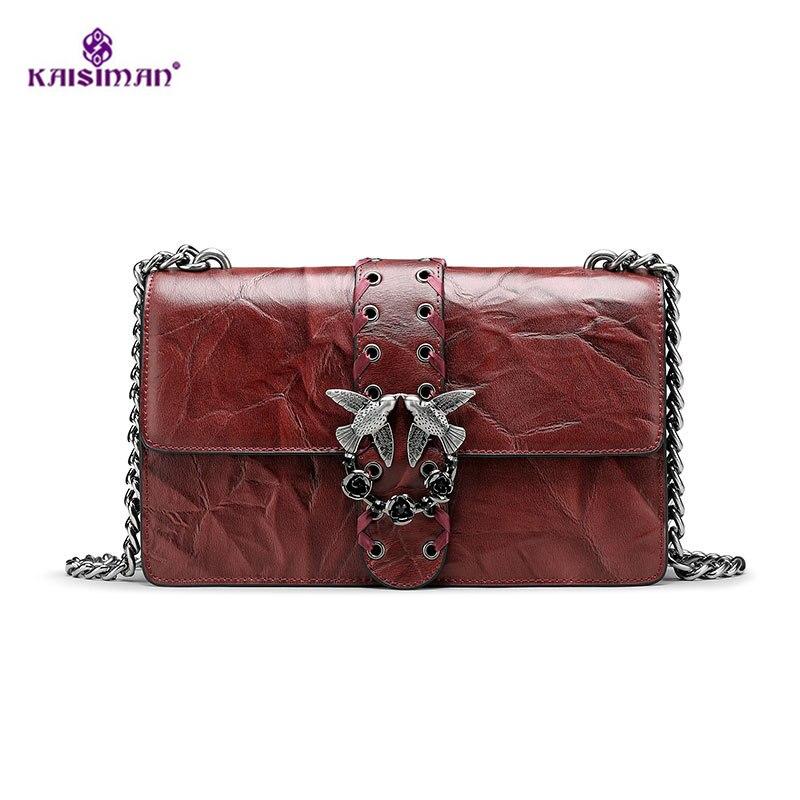 2 Size Classics Famous Designer Birds Flap Messenger Bags Lady Genuine Leather Handbags Luxury Brand Chains Women Crossbody Bags