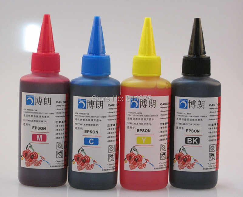1711 Isi Ulang Tinta untuk Epson XP-33 XP-103 XP-203 207 XP-303 XP-306 XP-403 XP-406 XP-313 XP-413 + 4 Warna Dye ink 400 Ml