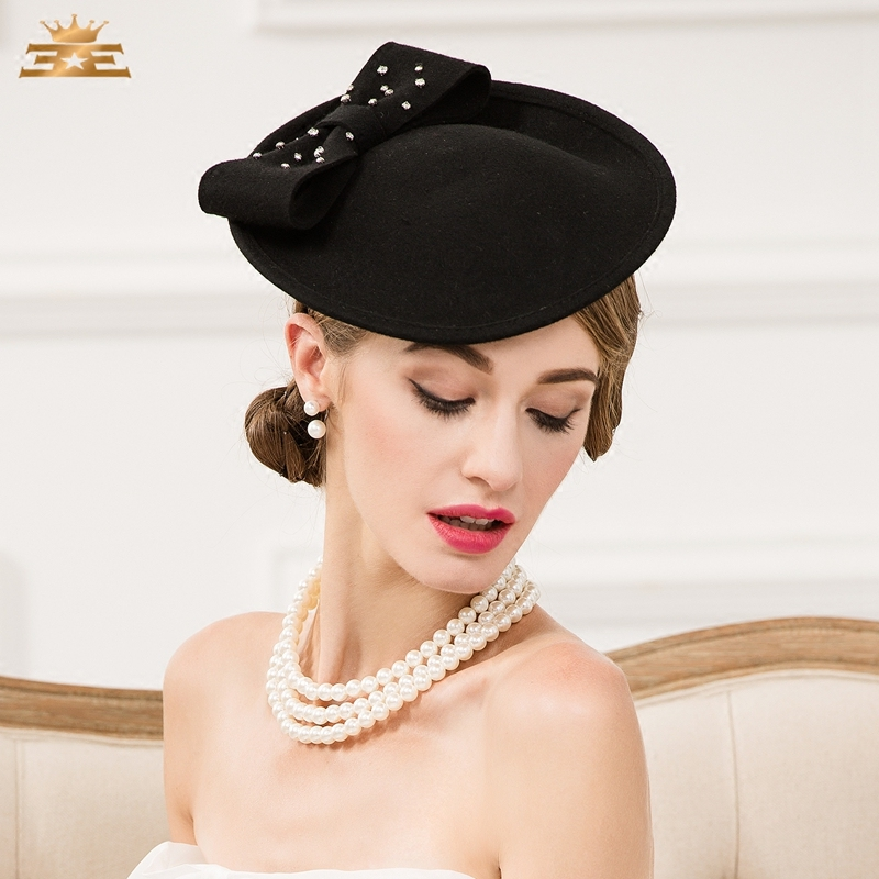 Lady Vintage Wool Hat Black Wool Pillbox Hat with Veil Wedding Party  Fascinator Hats for Women Chapeau Pour Mariage B 7534-in Fedoras from  Apparel ... db8006fb84c0