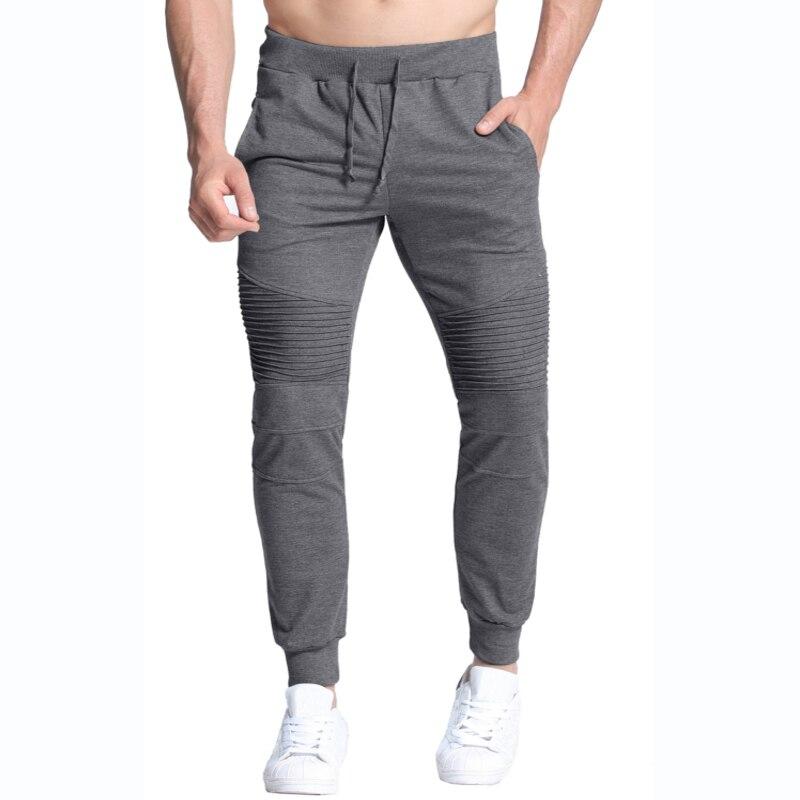 2018 Autumn Spring Men Sweat Harem Pants Casual Sportswear Jogger Elastic Waist Fitness Sweatpant Tracksuit Fashion Long Trouser