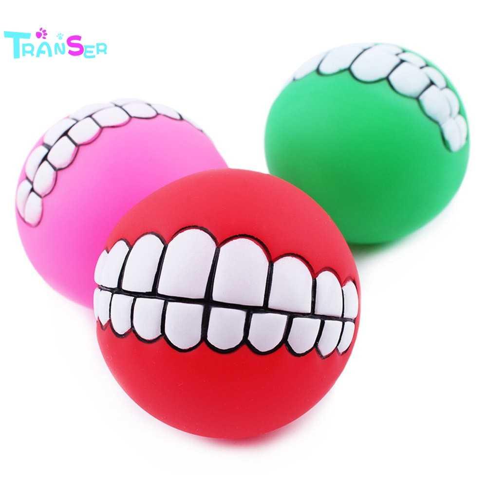 Трансер собака пищащий шар игрушки зубы забавные жевательные Sound звук собаки играть игрушки, Прямая поставка F8p15 P40