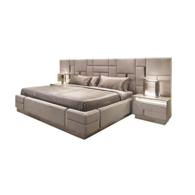 US $2899.0 |Italian Latest Custom Bed Bedroom Furniture Modern Luxury  Leather Bedroom Furniture Bedroom Set-in Bedroom Sets from Furniture on ...