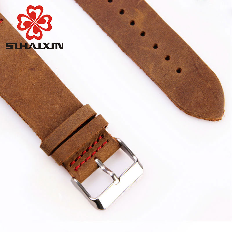 Wood Watch Billige menns Wooden Watch Red ekte Cowhide Leather Band - Herreklokker - Bilde 5