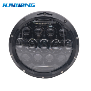 Image 4 - 7 inch LED Headlight Car Angel Eyes DRL Daytime Running Lights for Yamaha Jeep Wrangler Headlamp Car Motorcycle Accessories