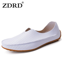 Male Fashion Brand Flat Sport Shoes Men Loafers Breathable Hollow Tide Ferrari Peas Shoes Outdoor Comfortable