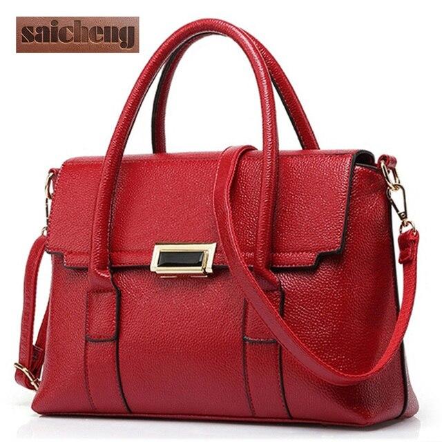 2017 Luxury Handbags Women Bags Designer Bolsos PU Leather Bags Woman Tote Bag Fashion Elegant Crossbody Bags For Womens Brand