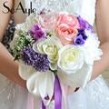 SoAyle Hot selling Wedding Bouquet 2016 wedding flowers bridal bouquets 25cm*30cm buque noiva High-grade original though ribbons