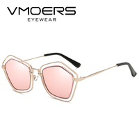 VMOERS Pentagon Pink Mirror Sunglasses Women Brand Desingner Oculos 2017 Polygon Sun Glasses For Women Fashion