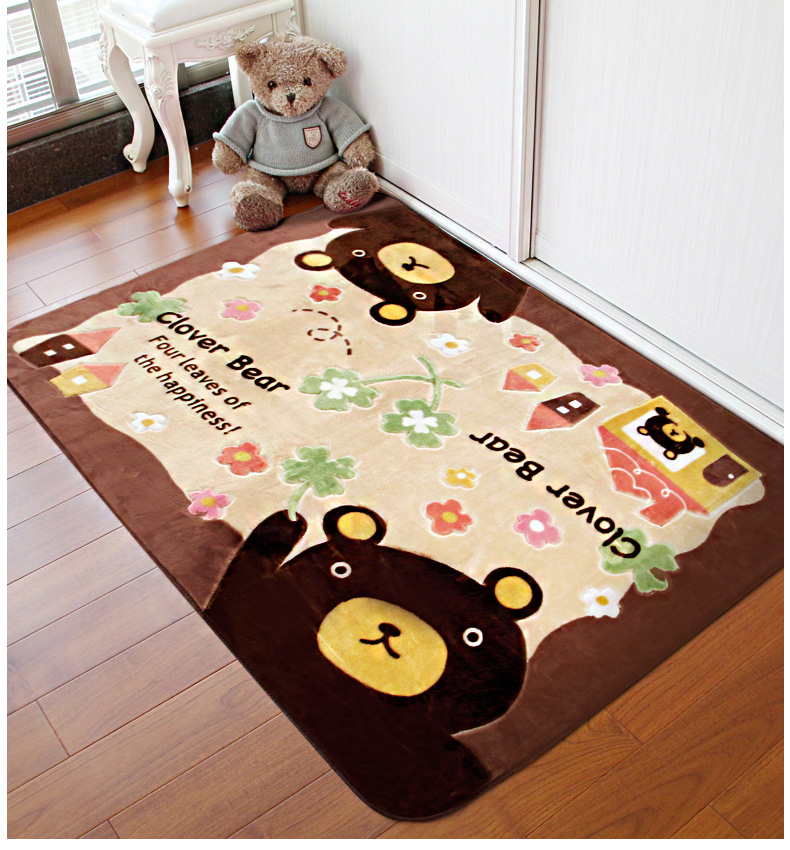Фото 1Cartoon carpet bedroom cute child crawling mat living room coffee table blanket room home machine bed washing bed front blanket