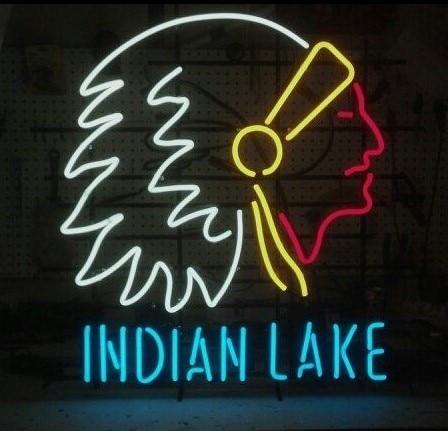 Custom Indian Lake Neon Light Sign Beer Bar
