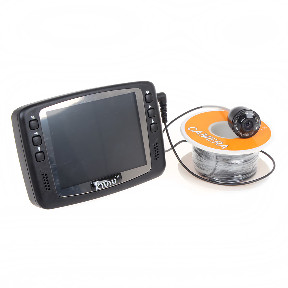 Free Shipping! Eyoyo Original 1000TVL Underwater Ice Video Fishing Camera 30M Cable Fish Finder 3.5'' Color LCD Monitor Fishfind free shipping eyoyo original 1000tvl underwater ice video fishing camera fish finder 15m cable 3 5 color lcd monitor