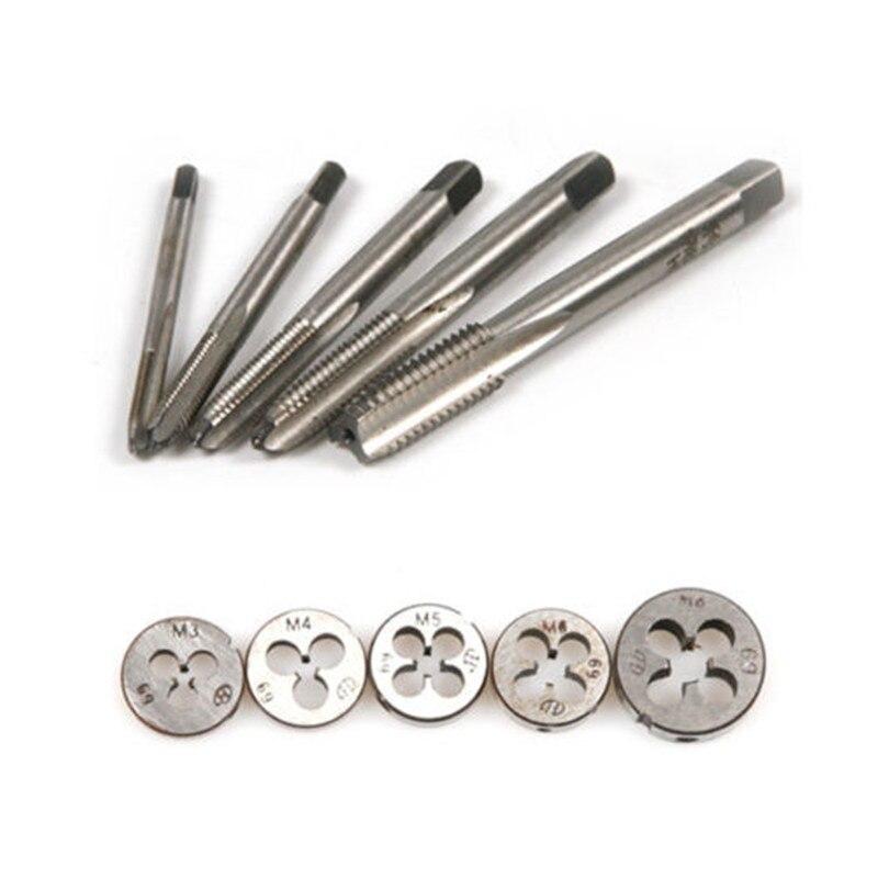 10 pcs M4 x 0.7 Machine Hand Screw Thread Metric Plug Tap Drill HSS