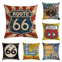 """Наволочки для подушек с принтом """"The Monther Road 66"""" 45*45 см, дизайн тюльпана, подарки для дома, спальни, дивана, декоративная наволочка"""