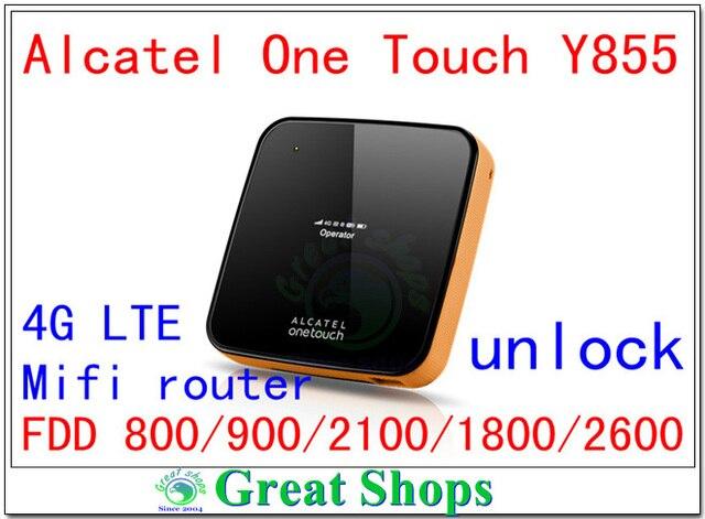 Разблокирована 100mbps lte Alcatel One Touch Y855 150 4 Г Маршрутизатор Мифи LTE 4 г ключ карманный беспроводной мобильной точки доступа FDD 800 pk y800 762 s