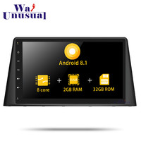 2 din Autoradio 10.1Android 8.1 Car Radio Multimedia Player For Peugeot 308 2016 Car GPS Navigation With BT WIFI Maps Octa Core