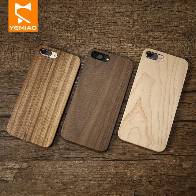 Luxo Caso De Telefone de Madeira Para iPhone i 6 6 S 7 8 Plus X Caso Natureza Bambu Capa Protetora de Volta para A Apple i iPhone 5 5S SE 10 Caso