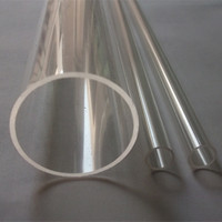 Wholesales Acrylic Clear Tube OD100X5X1000MM Plastic Pipe PMMA Can Cut Any Size