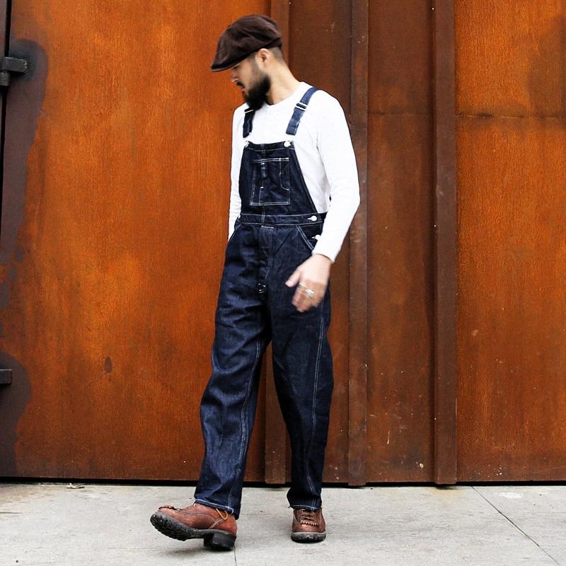 Bronson Vintage 1920s Denim Bib Overalls Men/'s Workwear Pants Selvedge High Rise