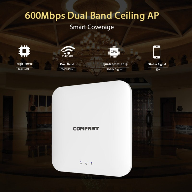 600Mbps dual band Wireless Ceiling AP WIFI Router for hotel wifi coverage 5G signal amplifier booster AP 48V POE Access Point AP totolink ca750 750m dual band wireless потолок ap центр отель дом wifi полный охват