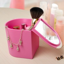 Free shipping fashion Mini make-up box mini clamshell storage 10.6*9*10.3cm