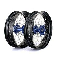 BIKINGBOY for YAMAHA YZ450F 14 15 16 17 YZ250F 2014 2015 2016 2017 Supermoto 17*3.5 17*4.25 Set Wheel Rims Hubs YZF 250 YZ F 450