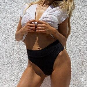2020 Sexy Women High Waist Bikini Bottom Summer Hot Sale Brazilian Beach Swimwear Swimsuit Push-up Brief Solid Color Swim Shorts