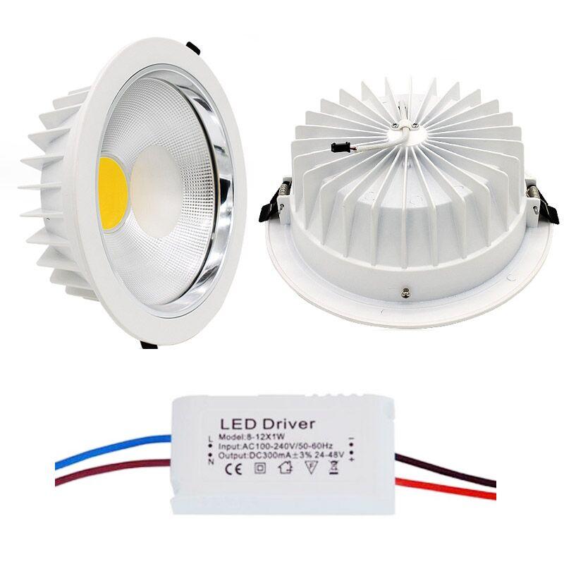 Ultra nádherný stmívatelný LED COB Downlight lustr AC110V 220V 5W / 15W / 30W 60w zapuštěný LED bodové světlo dekorace stropní lampa