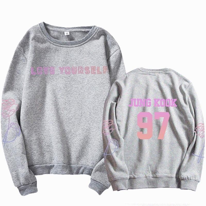 jungkook Unisex hoody kpop suga93 hoodies love KPOP weatshirt love yourself KPOP hoody sweatshirt  harajuku hoodies 8