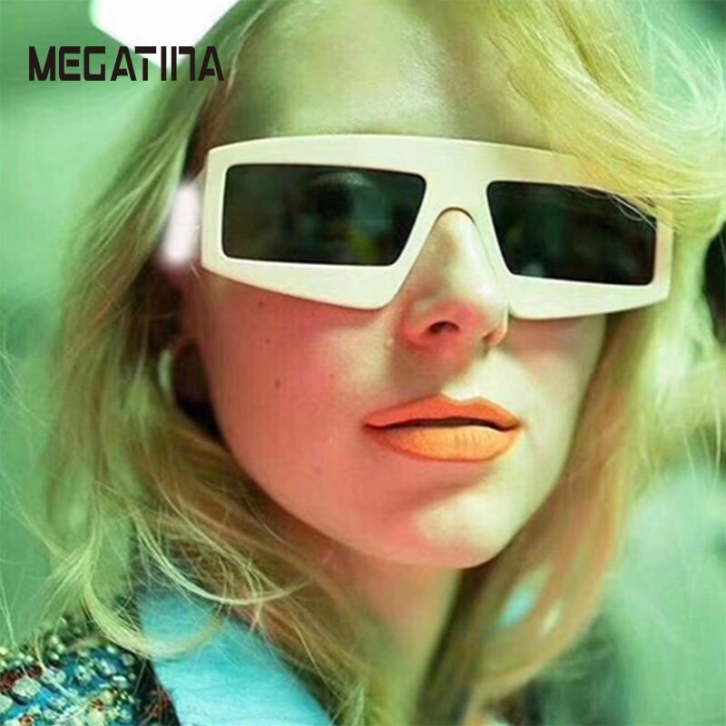 Megatina Platz Übergroße Sonnenbrille Frauen Mode Sonnenbrille Dame - Bekleidungszubehör