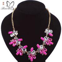 2017 collar de enlace de lujo choker collares vintage crystal étnico declaración beads choker collares joyería de las mujeres retro