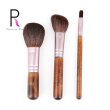 3pcs Makeup Brushes Make Up Brush Round Blush Powder Angled Contour Highlighter Small Eyeshadow Brush Goat Hair Wood BRD17