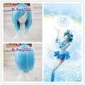Free Shipping Ami Mizuno Mercury / Sea Blue Short straight Cosplay Party Wig Fashion Cos Wig Hair+a WIG CAP