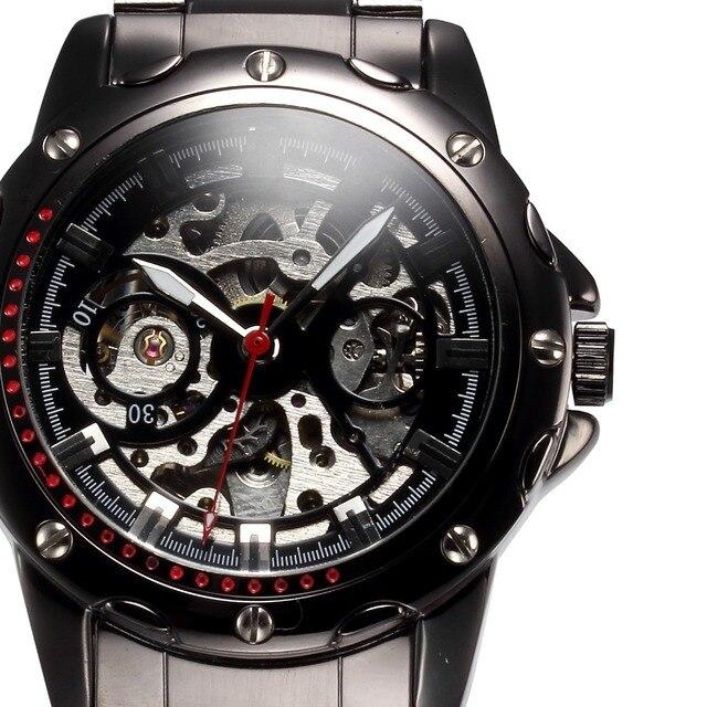 fba9ef75812 SHENHUA Homens Relógio Esqueleto Steampunk Mecânico Automático do Relógio  de Pulso Relogio masculino Masculino Relógio de