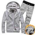 Nova Jaqueta de Inverno Dos Homens Hoodies e as Camisolas Suor Ternos Masculinos de Grandes Dimensões Com Capuz Conjuntos Esportivos Terno Conjuntos de Treino de Marca Dos Homens