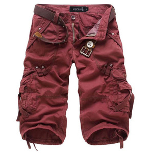 Image 2 - Icpans Casual Shorts Denim Jeans Loose Summer Military Army Knee Length Cargo Shorts Plus Size 40 42 Workout without belt