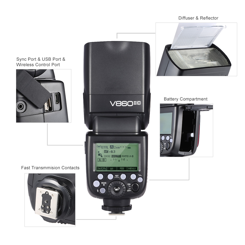 Godox-V860II-C-E-TTL-Master-Slave-Speedlite-Flash-1-8000S-HSS-GN60-Built-in-2 (4)