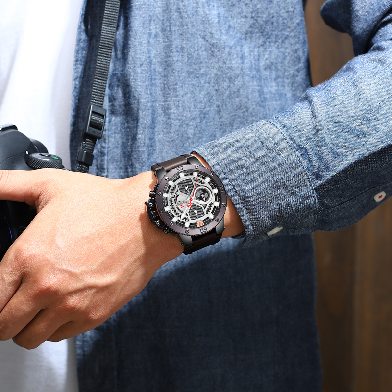 fa4af465d NAVIFORCE Top Men Watches Luxury Brand Men's Quartz Hour Analog LED Sports  Watch Men Army Military ...