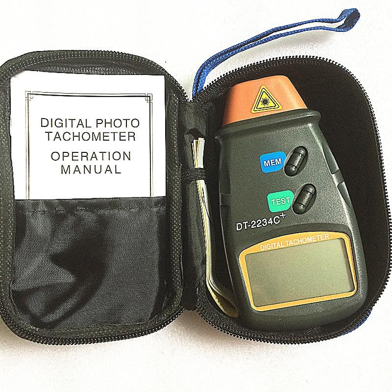 DT-2234C + velocidad del tacómetro del motor digital velocímetro digital Foto láser digital Tacómetro fotográfico Tacómetro sin contacto