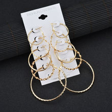 Modyle 5 Pairs/set Big Round Circle Hoop Earrings for Women Geometric Ear Hoops Earing Brincos Jewelry Gift(China)