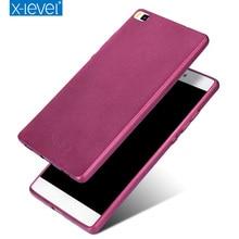 X-уровень шелковистой TPU телефон чехол для Huawei P8 P8 lite ультра тонкий защитный обратно мягкий чехол