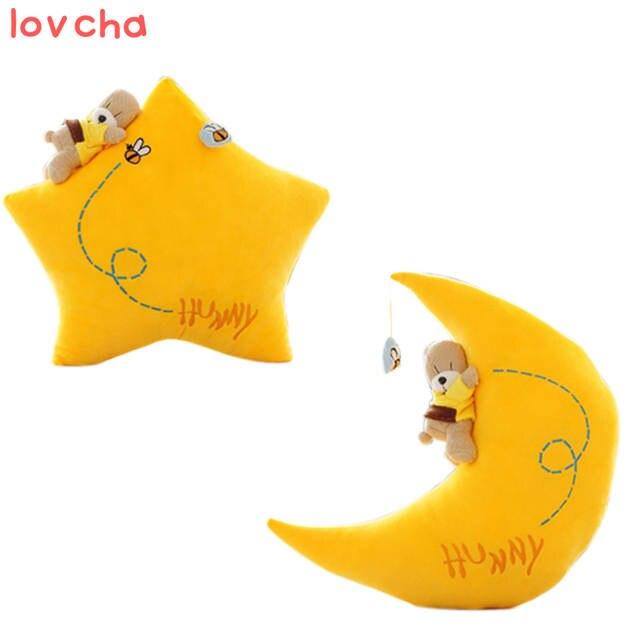 lovcha newest Plush toys Cute Doll Girl Sleeping Moon Pillow star Doll  Birthday Gift Eyes Closed Emoji Pillow Creative Cushion