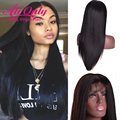 Alionly Straight Wig Malaysian Straight Lace Front Wig 100 Percent Human Hair Lace Front Wigs Black Women Full Lace Front Wig
