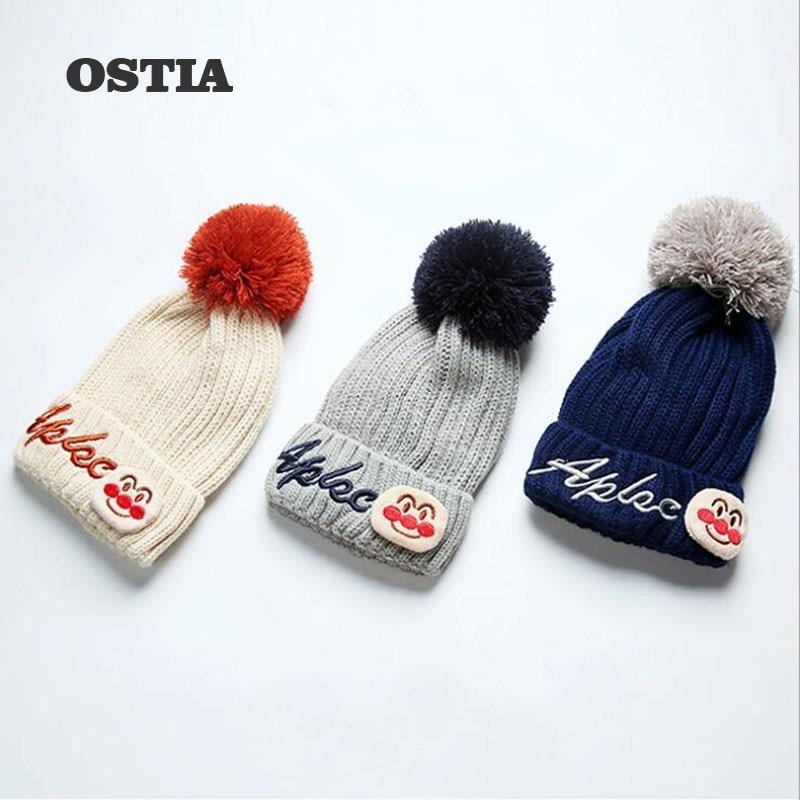 OSTIA 2018 New 3-6Y Child Baby Toddler Kids Girls Boys Warm Hat Winter Beanie Knitted Cap New H10