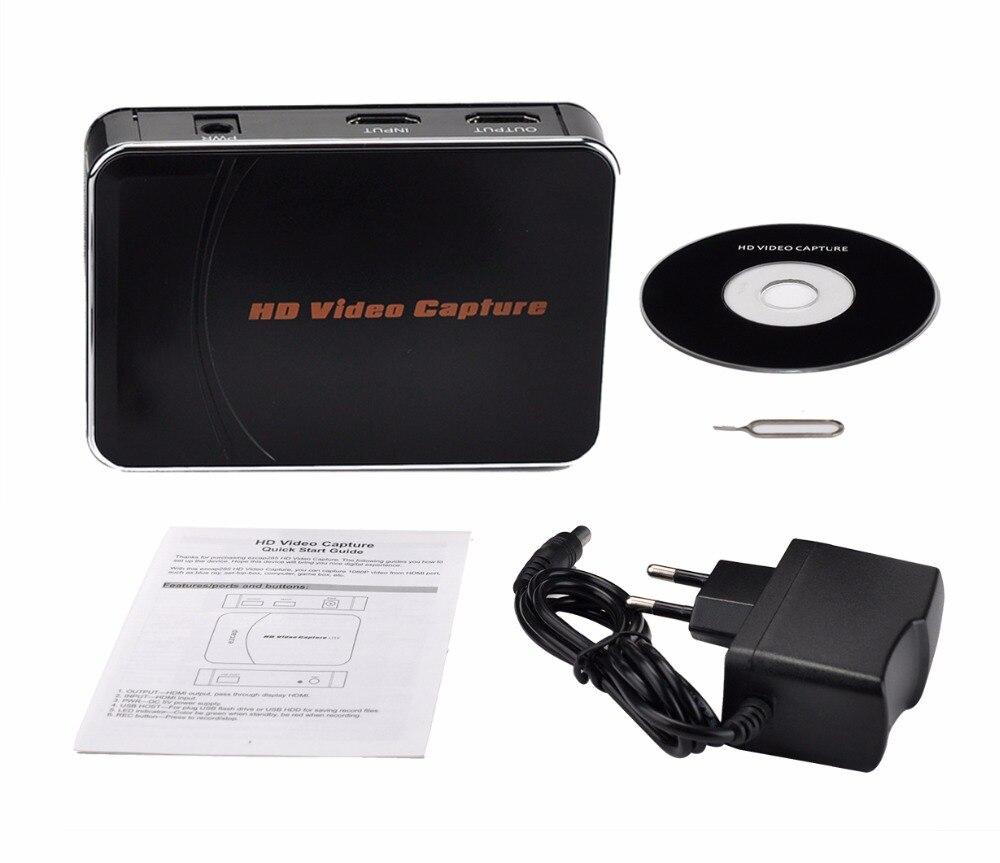 EZCAP Capture Vidéo 1080 P avec Micphone Mic support d'entrée décoder, HDMI jeu vidéo Capture pour PS4 PS3 TV STB à USB disque flash